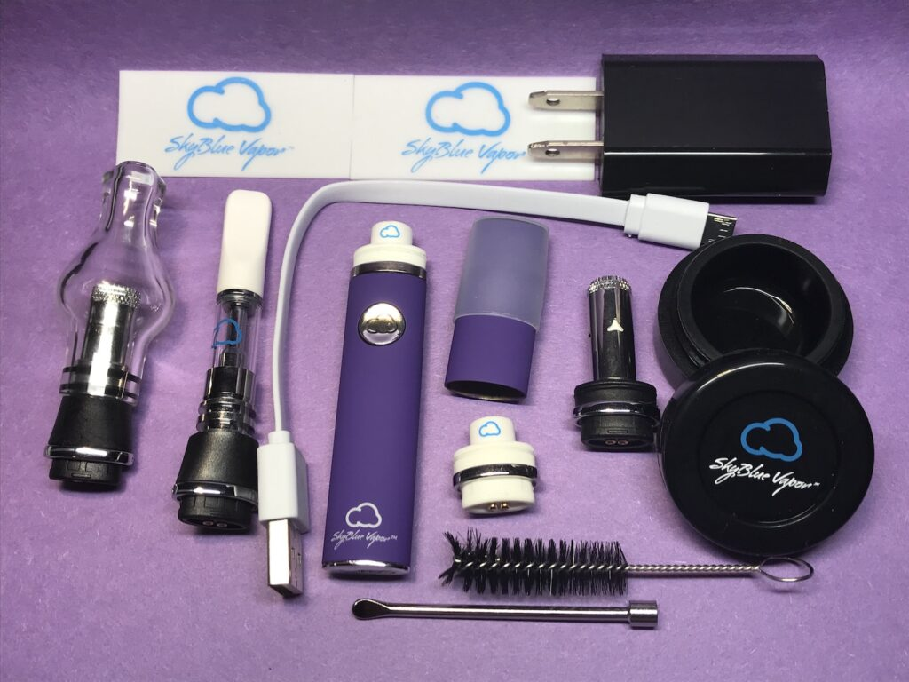 SkyBlue Vapor Deluxe Pen Kit