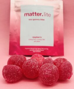 Raspberry and Mango Sour Gummy Bites